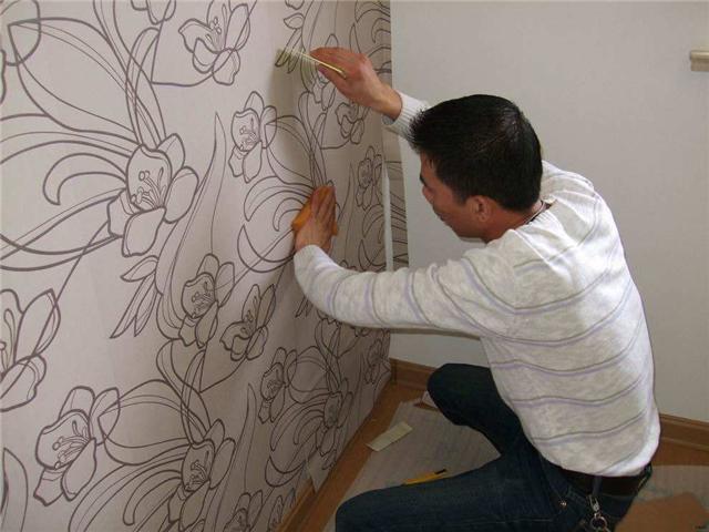 怎么贴壁纸