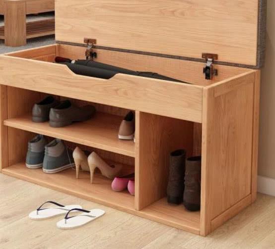玄关鞋柜的装修技巧 记得加上一个换鞋凳