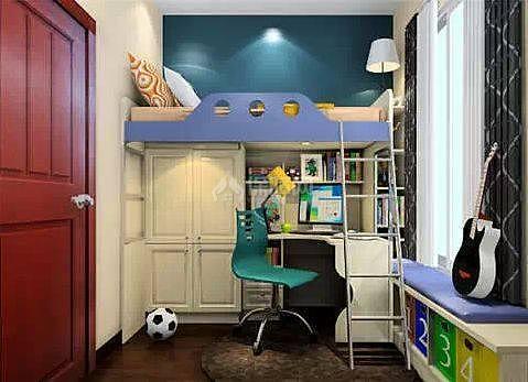 头次见有人在衣柜上设计床 看完后觉得非常实用